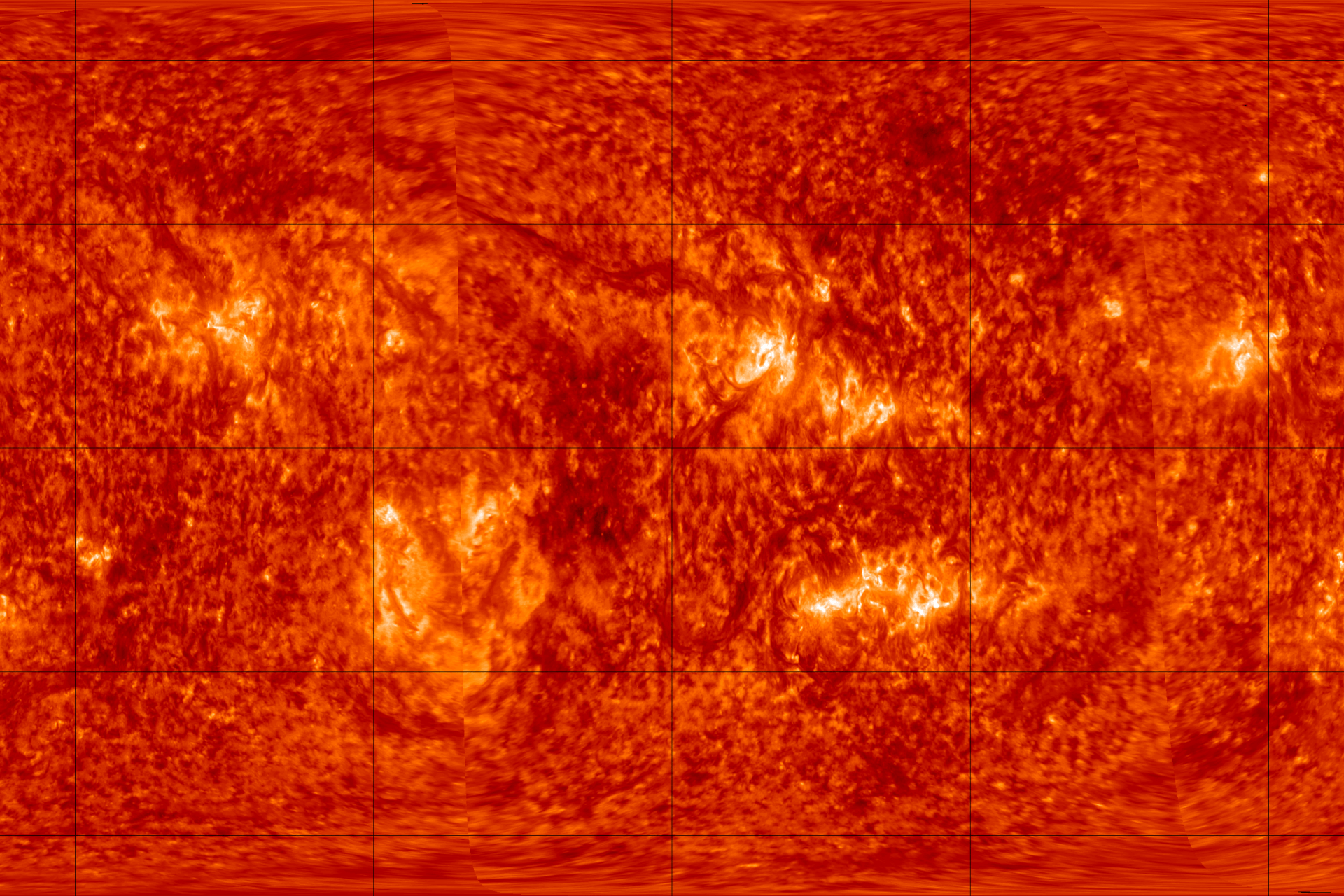 •	Full Sun map of the solar corona at roughly 144,000 F (80,000 C) acquired simultaneously by the two STEREO EUV imagers. Before STEREO, this capability was available for Earth observations only.