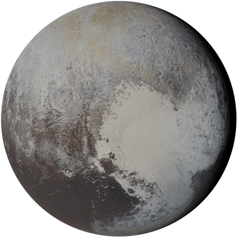 Graphic of Pluto, Kuiper Belt Objects & Comets