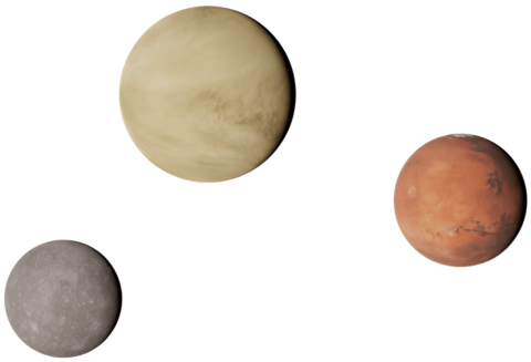 Graphic of Terrestrial Planets