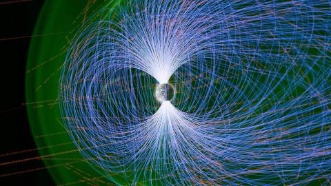Data analysis image of Earth's magnetosphere