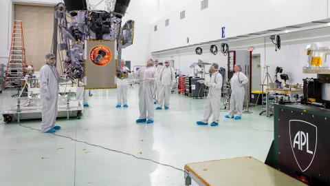 Working on Parker Solar Probe in APL's clean room