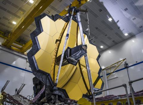 Image of James Webb Space Telescope mirrors