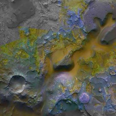 Science image of Mars' surface observed by CRISM.