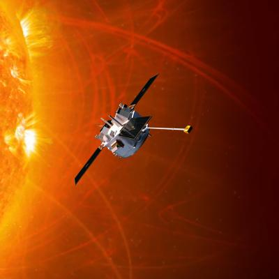 The ACE mission spacecraft orbiting the Sun