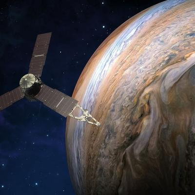 Jupiter Energetic-particle Detector Instrument in space